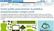 GPP: Paolo Fabbri su La Stampa Tuttogreen - AcquistiVerdi.it