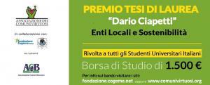 Comuni Virtuosi: borsa di studio Enti Locali e Sostenibilità - AcquistiVerdi.it