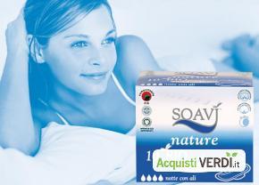 Assorbenti notte ali Soavì Nature - Farmac Zabban - Per la Persona, Cosmesi e Igiene Personale, Igiene Femminile
