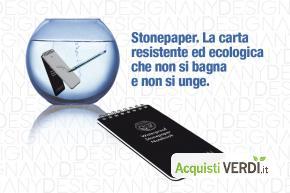 Blocknotes in Stonepaper - Anydesign Srl - Anydesign Srl - Eco Ristorazione, Riduzione dei Consumi, Imballaggi, Gadget, Cancelleria, Per gli Alberghi, Eventi Sostenibili, Per l'Azienda