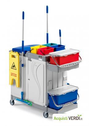 Carrello multiuso ALPHA - FILMOP INTERNATIONAL - GPP, Pulizia e prodotti per l'igiene, Attrezzatura Professionale, Ho.Re.Ca.