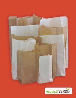 Sacchetti in carta kraft bianco ed avana - GROSSI CARTA MANTOVA S.P.A. - Eco Ristorazione, Imballaggi, Per gli Alberghi, Eventi Sostenibili, Per il GPP, Per l'Azienda